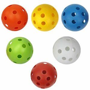 Toygogo 6X Airflow Creux Perforée en Plastique Golf Practice Balles de Formation