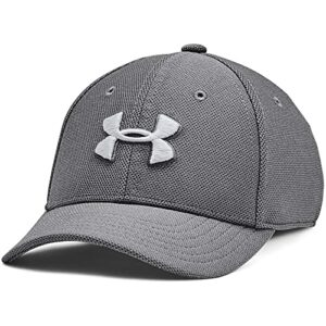 Under Armour Boys' Heathered Blitzing 3.0 Cap , Pitch Gray (012)/Mod Gray , X-Small/Small
