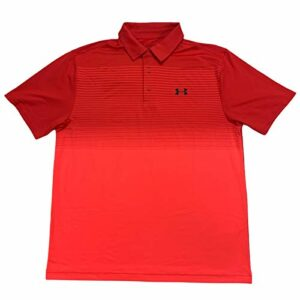 Under Armour Men's HeatGear Playoff Loose Fit Performance Polo Shirt (Red, Large)