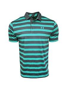 Under Armour Men's Polo Shirt Polyester/Elastane Blend Golf 1287383 Green/Black (Large)