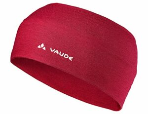 VAUDE Cassons Merino Headband Bandeau Mixte Adulte, Dark Indian Red, FR Unique (Taille Fabricant : One Size)