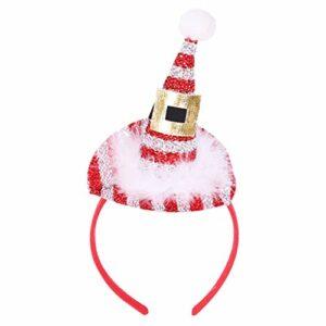 Vxhohdoxs Serre-tête de Noël avec paillettes et plumes