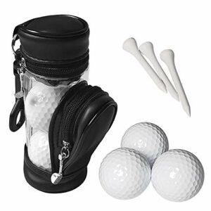 Walmeck Balles de Golf et t-Shirts pour Sac de Rangement avec 3 balles et 3 t-Shirts