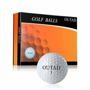 Warbird Lot de 12 balles de golf en caoutchouc de compression Blanc doux