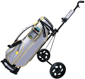 zaizai Poignée de Forme Ergonomique Pliable 2 Roues Poussoir Chariot Chariot de Golf Chariot pivotant en Acier léger Poussoir
