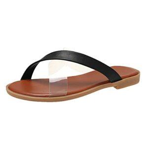 ZEELIY Sandales Femme Été de Plage Piscine Tongs à la Mode pour Fille – Chaussures Chics Antidérapantes – Pantoufles Maison Plates Confortables Souples Chaussons Sandales Pantoufles été