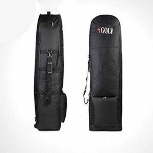 Zhou-YuXiang Housse de Protection de Voyage Durable pour Sac de Golf rembourré Portable avec Roues Construction en Nylon Portant Une Combinaison d'équipement de Sport