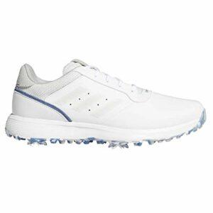 adidas Chaussures de golf pour homme S2G FTWR Blanc/gris One/Crew Blue – 45