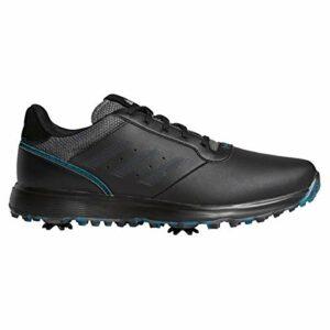 adidas Chaussures de golf S2G pour homme – Core noir/gris six/bleu sarcelle sauvage – 44