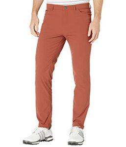 adidas Golf Men's Go-to 5-Pocket Primegreen Golf Pant, Wild Sepia, 4230