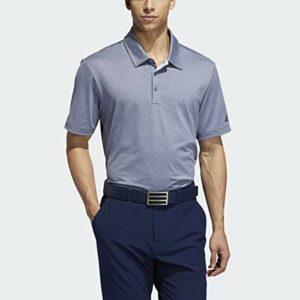 adidas Golf Men's Ultimate 2.0 Novelty Heather Polo, Tech Ink Melange/ Collegiate Navy, Large