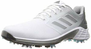 ADIDAS ZG 21, Chaussure de Golf Homme, Blanco/Plata/Gris, 45 1/3 EU