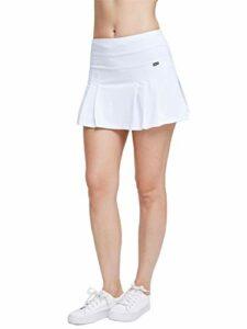 Anna-Kaci Jupe de golf plissée à séchage rapide avec poches – Blanc – Taille M