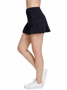 Anna-Kaci Jupe de golf plissée à séchage rapide avec poches – Noir – Taille XL