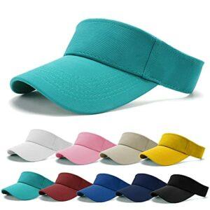 BLURBE Visiere Casquette Femme – Casquette Golf, Visières Casquette de Soleil Réglable Homme Sport Hat pour Golf Cyclisme Pêche Tennis Running Vetement Golf