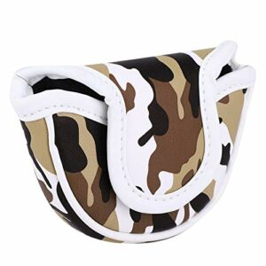 BOLORAMO Golf Club Headcover Putter Cover Sun-, Putters de Golf(Camouflage Brown)