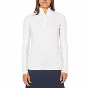 Callaway Cooling Solid Mock Long sleeve Golf Top, Bright White, X-Large