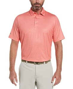 Callaway Short Sleeve All Over Chev Twill Printed Swing Tech Polo Shi, Dubarry, Large