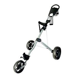 Chariot À 3 Roues Chariot De Golf À Pousser À Tirer Petit et Léger pour Les Sports de Golf en Plein Air Pliable
