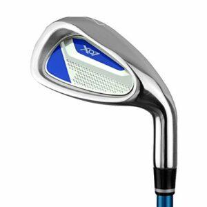 CHENSHJI Déchiqueteuses Club de Pratique de Golf pour Enfants avec bâtons en Caoutchouc pour garçons, 3-5 Ans, 6-8 Ans, 9-12 Ans Golf pour Hommes (Couleur : 9-12Age-blue, Taille : Iron Body)