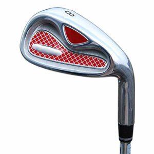 Clubs de Golf Hommes Femmes Main Droite Stable Long Putter de Golf Rouge Clubs de Golf légers Groupe de fers pour débutants 4/5/6/8/9/p/s Gants de Golf Club Polyvalent et fiable (Couleur : t
