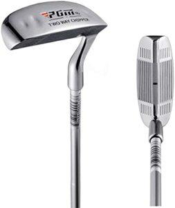 CRESTGOLF Chippers de club de golf bidirectionnel pour homme 88,9 cm Wedge de golf pour gaucher et droitier