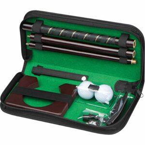 Crisma Set Ensemble de Golf de Bureau avec Putter en Bois. Adulte Mixte, Noir, 31 x 4,8 x 14,2 cm