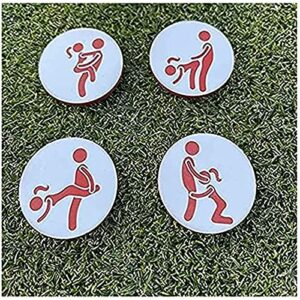 DKOUPTO 4PCS Marqueurs de Golf Humour Adulte Ensemble de 4, Outil de marqueur de Balle de Golf Adulte, marqueur de Balle spécial personnalisé Balle de Golf de Golf de Golf Accessoires Cadeau