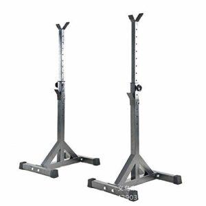 Durable Sport Split Type Poids Banc Squat Barbell StandSupporting Poids Rack Banc d'entraînement Musculation Fitness Equipment, équipement de Remise en Forme Faire des Exercices (Color : Black)