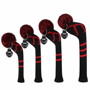 EDWARD & CO. Knit Woods Lot de 4 housses de tête de golf pour driver (460 cm³)