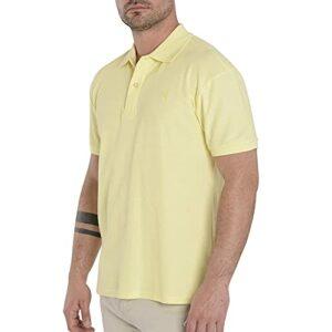 El Búho Nocturno – Polo Classique pour Homme   Polo Sport Golf, Tennis, Paddle – Lisse, sans Poche – Taille XL – Jaune Clair
