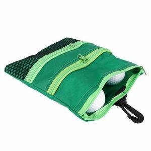 Emoshayoga Mini Sac Multi-Poches de Golf pour Les Amateurs de Golf(Green)