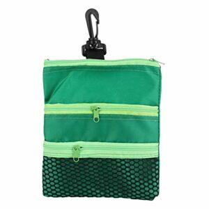 Emoshayoga Sac Multi-Poches de Golf léger et Durable pour Cadeau pour Accessoire de Golf d'entraînement de Golf(Green)