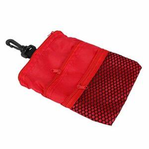 Emoshayoga Sac Multi-Poches de Mini-Golf extérieur pour Cadeau pour Accessoire de Golf d'entraînement de Golf(Red)