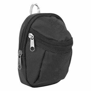 Esenlong Sac de sport portable en polyester résistant à l'usure et imperméable avec porte-clés Noir 2 couches
