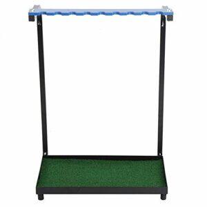 EVTSCAN Support de Putter de Golf en Bois de qualité supérieure, Support de Support de Stockage en Acier de Club de Golf 9 Trous étagère d'affichage de Putter Fournitures d'outils de Golf