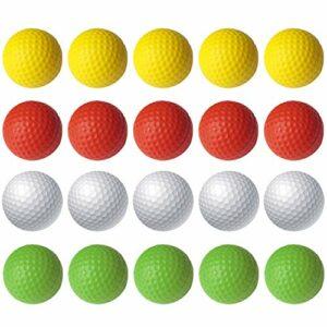 Faffooz Balles De Pratique De Golf en Mousse, Couleurs Vives Et Vives, Conçues pour Les Débutants Et Les Golfeurs Avancés, Durables Et Souples pour L'entraînement en Intérieur Ou en Extérieur-20pcs