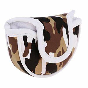 freneci Premium PU Golf Headcover Guard Maillet Putter Cover Protector Aimant Fermeture – Marron, comme décrit