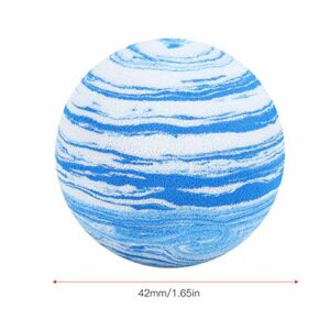 frenma Balle en Mousse de Golf, Balle de Golf, 20 pièces pour la Pratique du Swing intérieur(Blue/White Ink Ball 42mm-1 Grain)