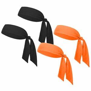 GOGO Lot de 100 serre-têtes pour le tennis – Noir et orange