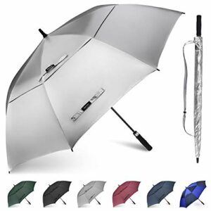 Gonex Parapluie Golf Automatique Parapluie Canne Parapluie Droit Résistant au Vent Ouverture Automatique 157cm