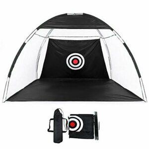 Gosgoly Filet de Pratique de Golf 2m Portable au Golf Tente Pliable Extérieure Cage de Pratique de Golf Pliable Aide à la Formation de Filet de Frappe pour extérieur intérieur avec Sac de Transport