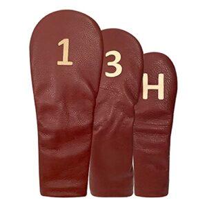 HAB Carmin 01. Housse de Driver, bois 3 et hybride en cuir naturel. (Bois 3)