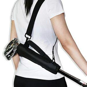 HUANRU Golf Club Bag Sac De Voyage pour Mini-Golf pour 3-6Clubs De Golf Sac De Transport Léger Sac De Golf Pliable Dimanche (Noir)
