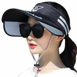 JIAHG Sports Visière Femme Casquette Pare-Soleil Sport Vide Chapeau de Soleil Visière Serre-tête Chapeaux de Soleil Anti-UV Réglable Courir Chapeau en Plein Air Loisirs