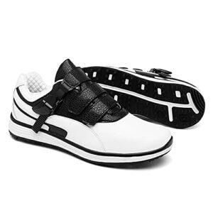 JQKA Chaussures de Golf Couple léger Confortable Chaussures de Baseball Semelle intermédiaire Absorbant Les Chocs Chaussures de Golf Chaussures de Sport(Size:44,Color:Noir)