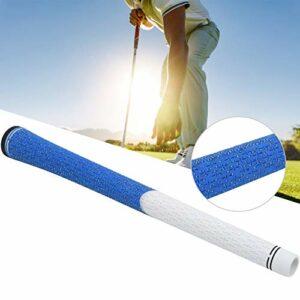 Kadimendium Poignée de Golf antidérapante Durable et antidérapante Poignée de Golf pour l'entraînement(White/Blue)