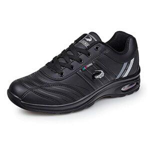 Lanzhi Chaussures de Golf pour Hommes, imperméables et Confortables, légères, Baskets de Badminton, Chaussures de Sport, Chaussures de Golf sans Crampons, antidérapantes et Respirantes