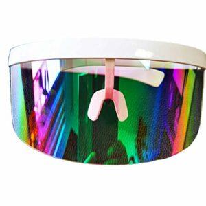 Lunettes de soleil sans monture polarisées, lunettes de soleil de conception unique aviateur pour hommes et femmes avec protection UV, lunettes de soleil de sport pour le cyclisme, la pêche, le golf