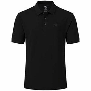 MoFiz Polo Homme Shirt Manches Courtes Coton Sport Polo d'été Respirant Tennis Golf Tops Noir M